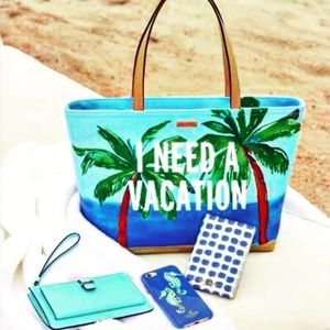 🌟 Authentic Kate Spade ♠️ I Need A Vacation Tote